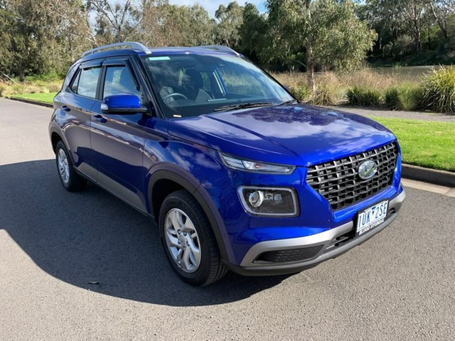 Used Hyundai Venue QX Active Geelong, 2019 Hyundai Venue QX Active Blue Automatic Wagon