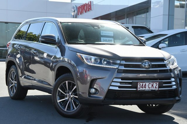 Pre-Owned Toyota Kluger GSU50R GXL 2WD Woolloongabba, 2019 Toyota Kluger GSU50R GXL 2WD Grey 8 Speed Sports Automatic Wagon