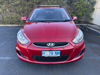 2018 Hyundai Accent RB6 MY18 Sport Pulse Red 6 Speed Manual Hatchback.