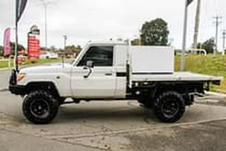 2009 Toyota Landcruiser VDJ79R Workmate White 5 Speed Manual Cab Chassis