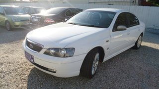 2005 Ford Fairmont BA Mk II Ghia White 4 Speed Automatic Sedan.