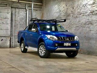 2017 Mitsubishi Triton MQ MY17 GLS Double Cab Blue 5 Speed Sports Automatic Utility.