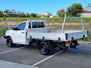 2016 Toyota Hilux TGN121R Workmate 4x2 White 5 Speed Manual Cab Chassis.