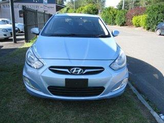 2011 Hyundai Accent RB Elite Blue 4 Speed Automatic Sedan.