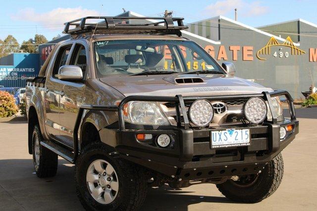 Used Toyota Hilux KUN26R 07 Upgrade SR5 (4x4) West Footscray, 2007 Toyota Hilux KUN26R 07 Upgrade SR5 (4x4) Brown 5 Speed Manual Dual Cab Pick-up
