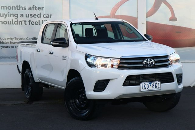 Pre-Owned Toyota Hilux GUN126R SR Double Cab Ferntree Gully, 2017 Toyota Hilux GUN126R SR Double Cab Glacier White 6 Speed Sports Automatic Utility