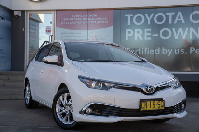 Pre-Owned Toyota Corolla ZRE182R Ascent Sport S-CVT Guildford, 2018 Toyota Corolla ZRE182R Ascent Sport S-CVT Glacier White 7 Speed Constant Variable Hatchback