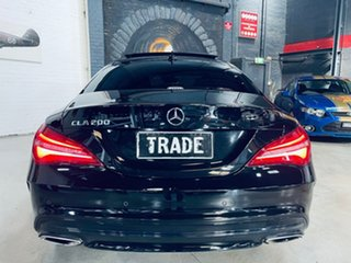 2018 Mercedes-Benz CLA-Class C117 809MY CLA200 DCT Black 7 Speed Sports Automatic Dual Clutch Coupe