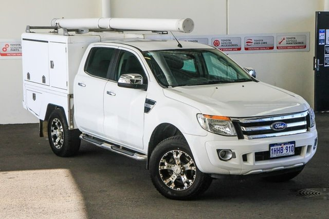 Pre-Owned Ford Ranger PX XLT 3.2 (4x4) Myaree, 2013 Ford Ranger PX XLT 3.2 (4x4) White 6 Speed Automatic Double Cab Pick Up