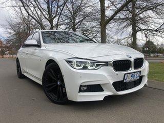 2018 BMW 3 Series F30 LCI 330i M Sport White 8 Speed Sports Automatic Sedan.