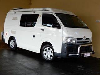 2006 Toyota HiAce TRH201R LWB White 5 Speed Manual Van.