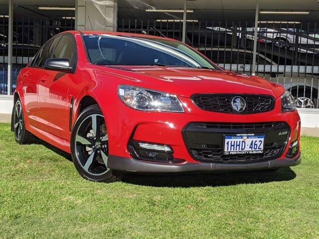 Used Holden Commodore VF II MY16 SS Black Victoria Park, 2016 Holden Commodore VF II MY16 SS Black Red 6 Speed Sports Automatic Sedan