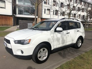 2010 Mitsubishi Outlander ZH MY11 LS 2WD White 6 Speed Constant Variable Wagon