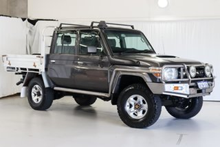 2014 Toyota Landcruiser VDJ79R MY13 GXL Double Cab Grey 5 Speed Manual Cab Chassis.