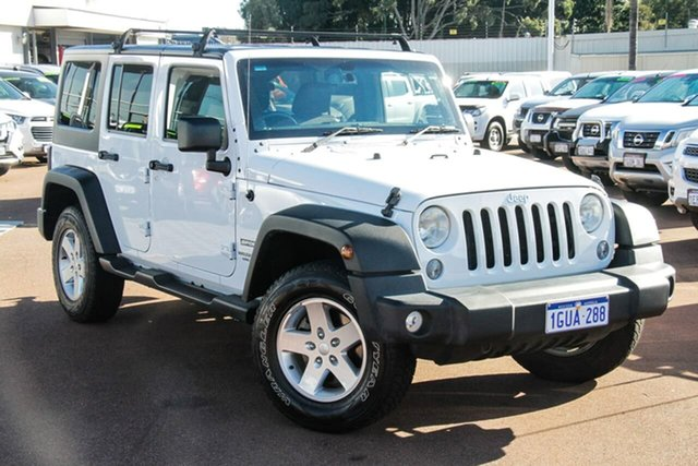 Used Jeep Wrangler JK MY17 Unlimited Sport Attadale, 2017 Jeep Wrangler JK MY17 Unlimited Sport White 6 Speed Manual Softtop