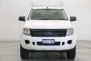 2014 Ford Ranger PX XL Hi-Rider Cool White 6 Speed Sports Automatic Utility.