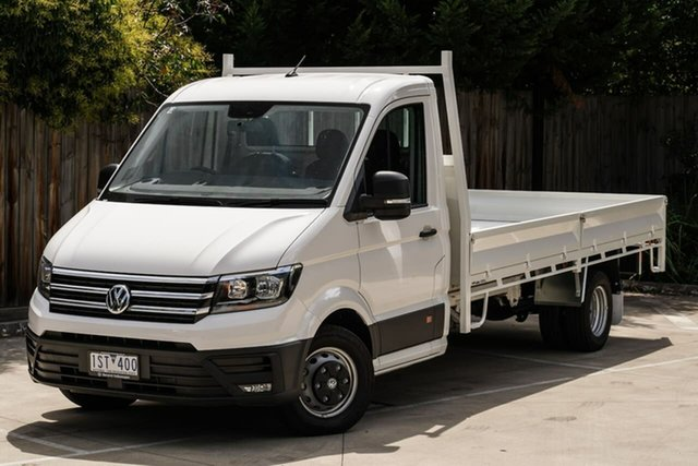 Demo Volkswagen Crafter SY1 MY19 50 LWB TDI410 Berwick, 2019 Volkswagen Crafter SY1 MY19 50 LWB TDI410 White 8 Speed Automatic Cab Chassis