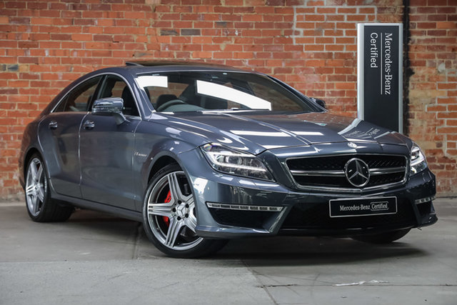 Certified Pre-Owned Mercedes-Benz CLS-Class C218 MY14 CLS63 AMG Coupe SPEEDSHIFT MCT S Mulgrave, 2014 Mercedes-Benz CLS-Class C218 MY14 CLS63 AMG Coupe SPEEDSHIFT MCT S Tenorite Grey 7 Speed