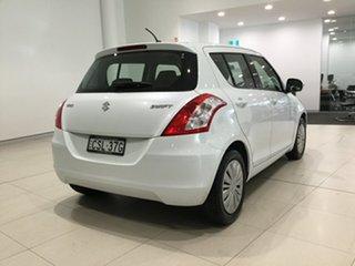 2014 Suzuki Swift FZ MY14 GL White 4 Speed Automatic Hatchback.