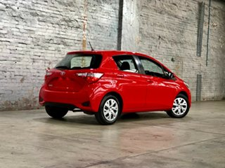 2017 Toyota Yaris NCP130R Ascent Red 4 Speed Automatic Hatchback