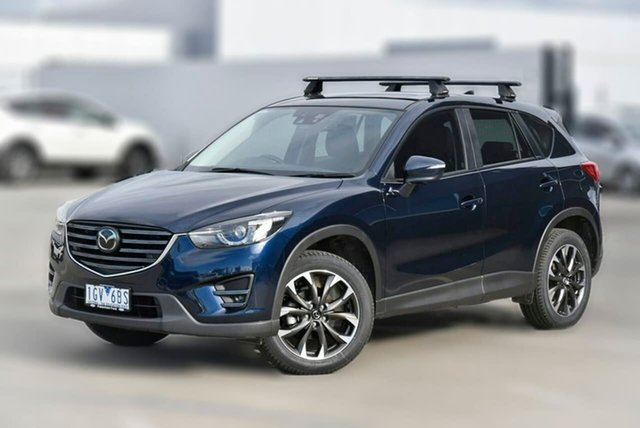 Used Mazda CX-5 KE1032 Akera SKYACTIV-Drive i-ACTIV AWD Pakenham, 2016 Mazda CX-5 KE1032 Akera SKYACTIV-Drive i-ACTIV AWD Blue 6 Speed Sports Automatic Wagon