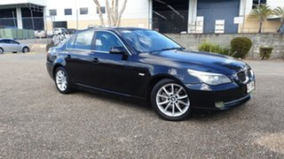2007 BMW 525i E60 MY07 Black 6 Speed Auto Steptronic Sedan.