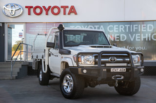 2018 Toyota Landcruiser VDJ79R GXL French Vanilla 5 Speed Manual Cab Chassis.