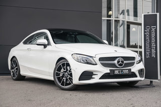 2020 Mercedes-Benz C-Class C205 800+050MY C300 9G-Tronic Polar White 9 Speed Sports Automatic Coupe.