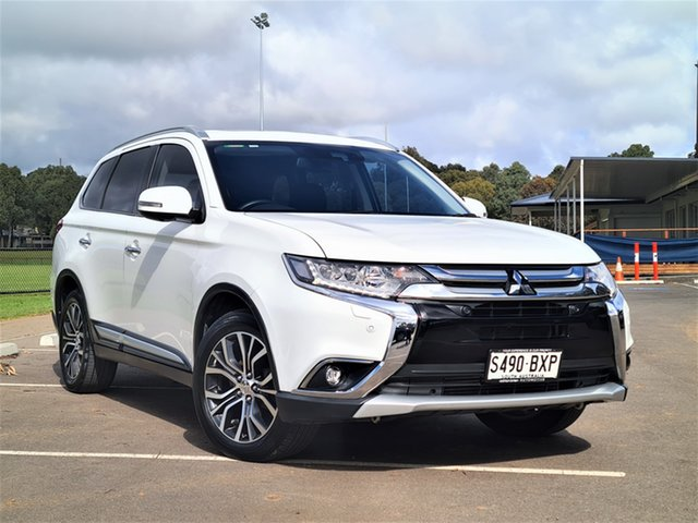 Used Mitsubishi Outlander ZK MY17 Exceed 4WD St Marys, 2017 Mitsubishi Outlander ZK MY17 Exceed 4WD White 6 Speed Sports Automatic Wagon
