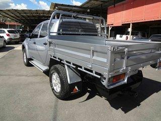 2011 Mitsubishi Triton MN MY11 GL-R (4x4) Silver 5 Speed Manual Double Cab Utility.