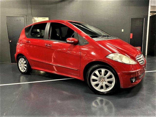 Used Mercedes-Benz A-Class W169 A200 Elegance Ashmore, 2005 Mercedes-Benz A-Class W169 A200 Elegance Red 7 Speed Constant Variable Hatchback
