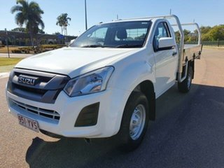2019 Isuzu D-MAX MY19 SX 4x2 High Ride White 6 Speed Sports Automatic Cab Chassis
