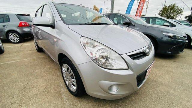 Used Hyundai i20 PB MY11 Active Maidstone, 2011 Hyundai i20 PB MY11 Active Silver 4 Speed Automatic Hatchback