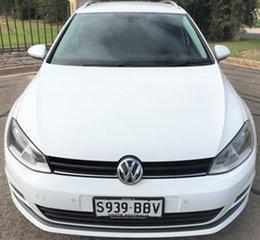 2014 Volkswagen Golf VII MY14 90TSI DSG Comfortline White 7 Speed Sports Automatic Dual Clutch Wagon.