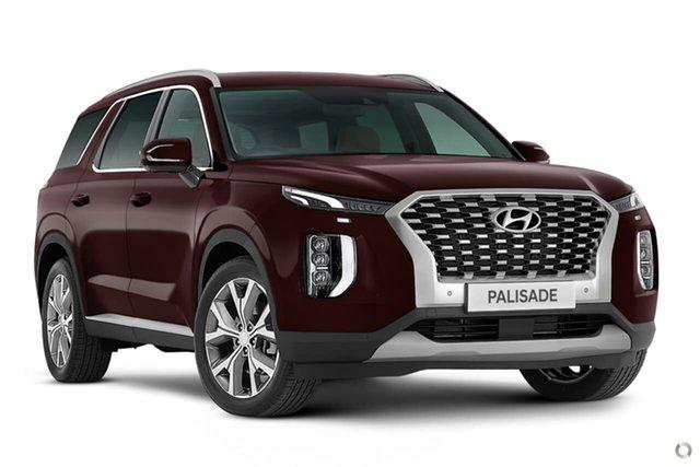 New Hyundai Palisade LX2.V1 MY21 Highlander 2WD Oakleigh, 2021 Hyundai Palisade LX2.V1 MY21 Highlander 2WD Maroon 8 Speed Sports Automatic Wagon