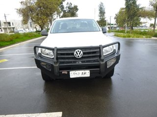 2011 Volkswagen Amarok 2H TDI400 Trendline White Manual Cab Chassis.