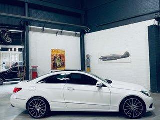 2013 Mercedes-Benz E-Class C207 MY13 E250 CDI 7G-Tronic + White 7 Speed Sports Automatic Coupe.