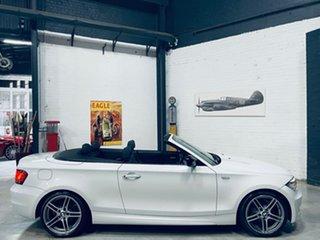 2013 BMW 1 Series E88 LCI MY1112 120i Steptronic White 6 Speed Sports Automatic Convertible.