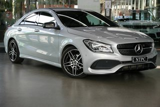 2017 Mercedes-Benz CLA-Class C117 807MY CLA200 DCT Silver 7 Speed Sports Automatic Dual Clutch Coupe.