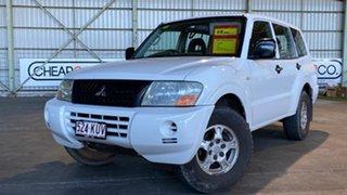 2003 Mitsubishi Pajero NP GLX White 5 Speed Manual Wagon.