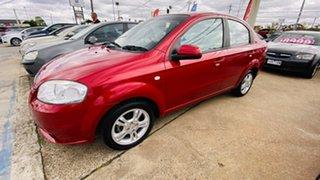 2011 Holden Barina TK MY11 Red 4 Speed Automatic Sedan