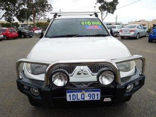 2010 Mitsubishi Triton MN MY10 GLX-R Double Cab White 5 Speed Manual Utility.