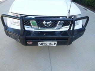 2011 Nissan Navara D40 ST-X White Manual Utility