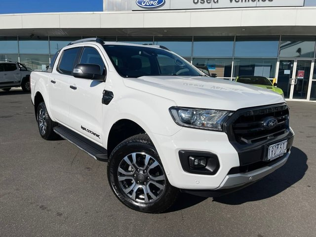 Used Ford Ranger PX MkIII 2019.75MY Wildtrak Essendon Fields, 2019 Ford Ranger PX MkIII 2019.75MY Wildtrak White 10 Speed Sports Automatic Double Cab Pick Up