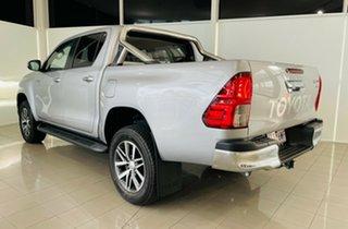 2018 Toyota Hilux GUN136R SR5 Double Cab 4x2 Hi-Rider Silver, Chrome 6 Speed Sports Automatic.