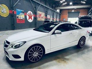 2013 Mercedes-Benz E-Class C207 MY13 E250 CDI 7G-Tronic + White 7 Speed Sports Automatic Coupe