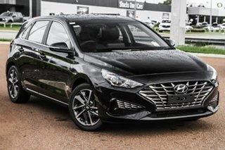 2021 Hyundai i30 PD.V4 MY21 Elite Black 6 Speed Sports Automatic Hatchback.