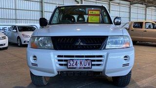 2003 Mitsubishi Pajero NP GLX White 5 Speed Manual Wagon