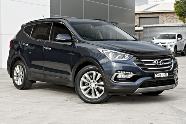 Used Hyundai Santa Fe DM3 MY17 Elite Tuggerah, 2017 Hyundai Santa Fe DM3 MY17 Elite Blue 6 Speed Sports Automatic Wagon