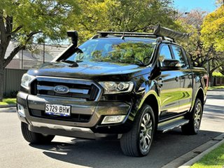 2015 Ford Ranger PX MkII Wildtrak Double Cab Black 6 Speed Sports Automatic Utility.